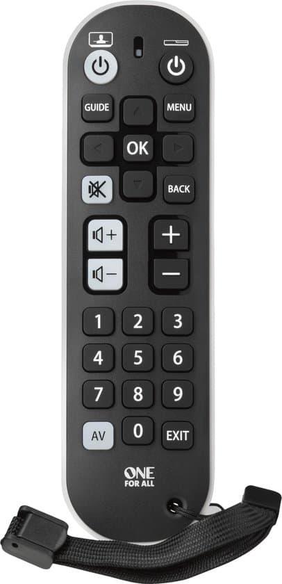 Meest eenvoudige universele afstandsbediening: One For All URC6820